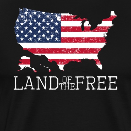 Land of the Free 4th of July Patriot Memorial Day - Männer Premium T-Shirt