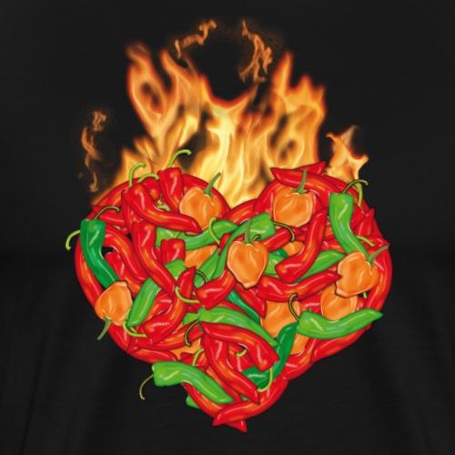 Chili Pepper Heart T-Shirt - Männer Premium T-Shirt