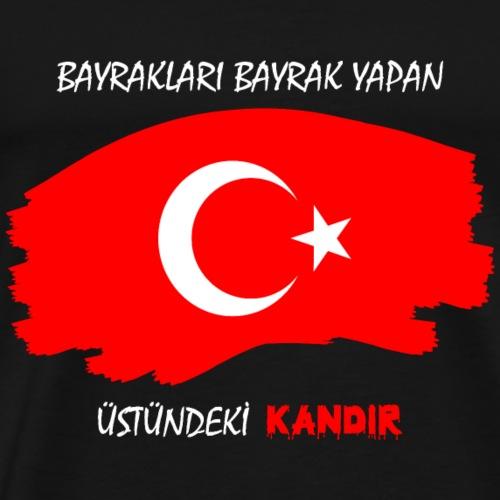 Bayrak Türkiye Türkei - Männer Premium T-Shirt
