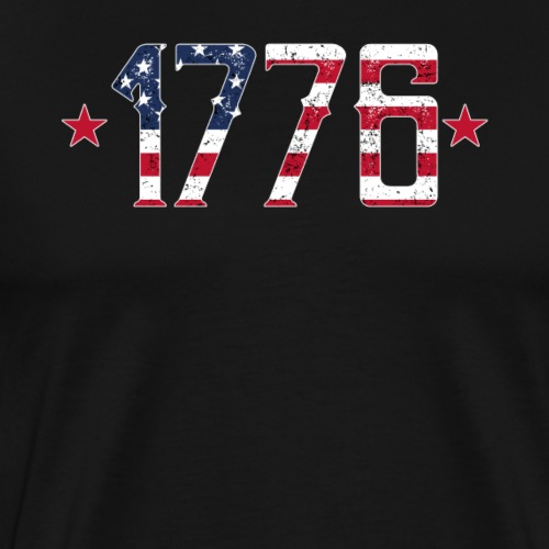 1776 Forth July American Pride Patriot - Männer Premium T-Shirt