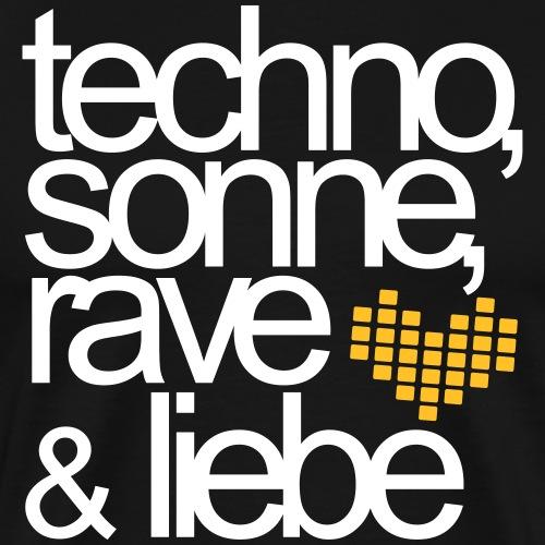 Techno Sonne Rave & Liebe Sommer Musik Festivals - Männer Premium T-Shirt