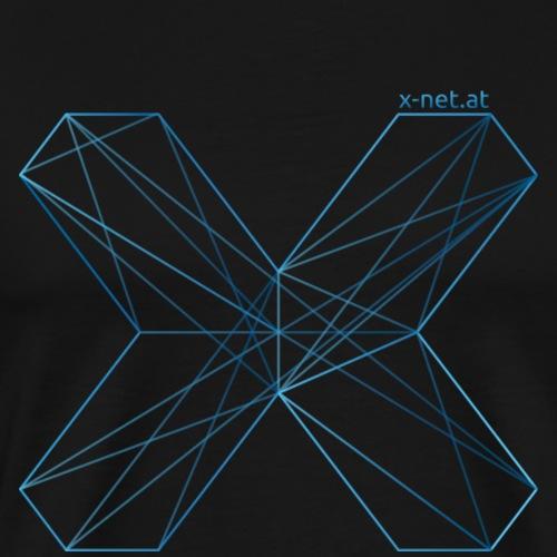 X outline blau URL png - Männer Premium T-Shirt
