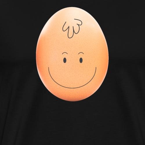 Weltrekord Ei Wer hat ihm das Gesicht gezeichnet? - Männer Premium T-Shirt