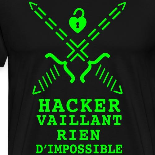 Hacker Vaillant rien d'impossible - T-shirt Premium Homme