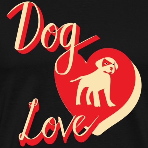 dog love_2 - Men's Premium T-Shirt