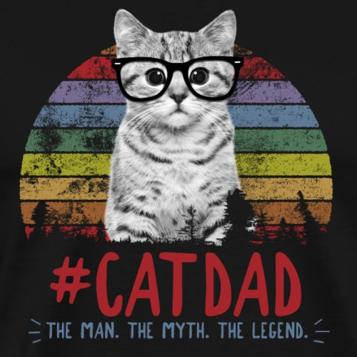 cat dad - Men's Premium T-Shirt