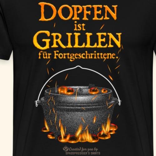 Dopfen ist Grillen | Dutch Oven T-Shirts - Männer Premium T-Shirt