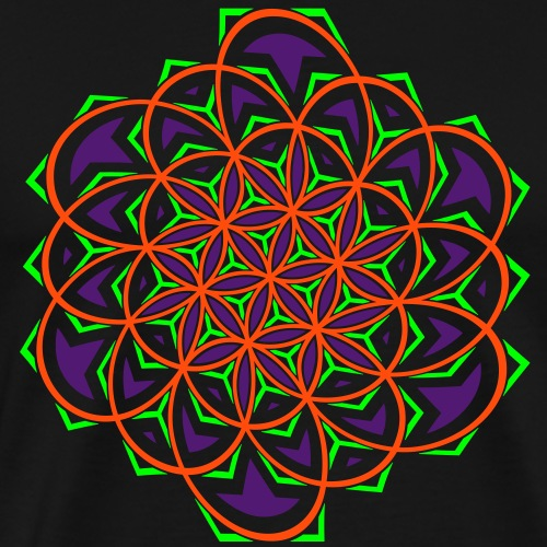Flower of Life Twisted - Camiseta premium hombre