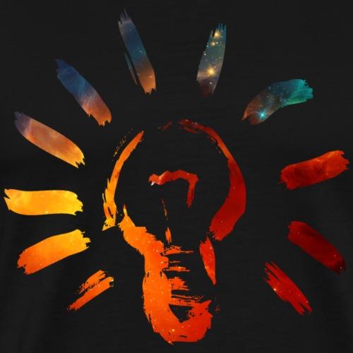 Licht, Meditation, Erleuchtung, Glühbirne, Trance, - Männer Premium T-Shirt