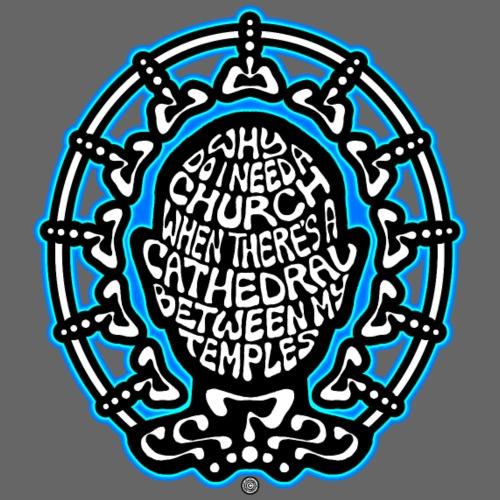 FREE THINKER (black/white/blue) - Men's Premium T-Shirt