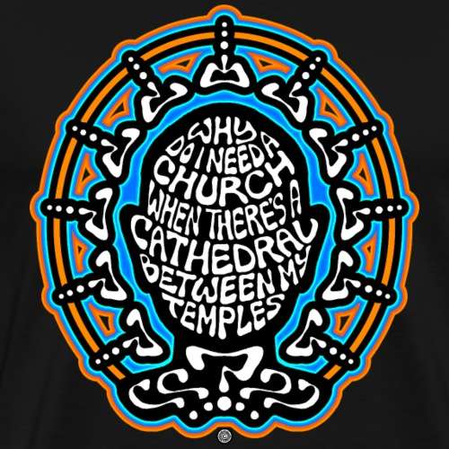 FREETHINKER (black/white/blue/orange) - Men's Premium T-Shirt