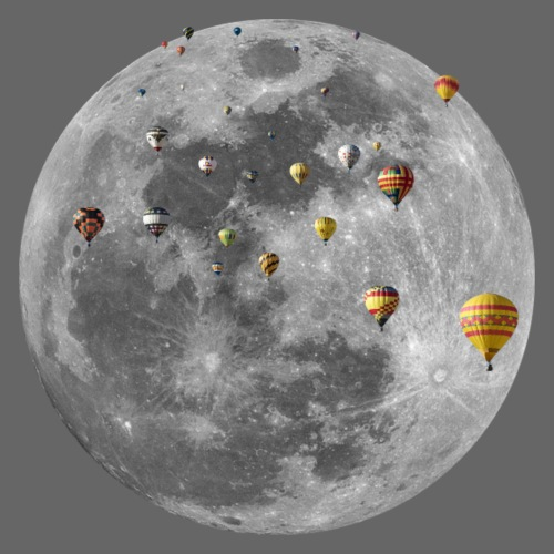 Mond-Ballons - Männer Premium T-Shirt