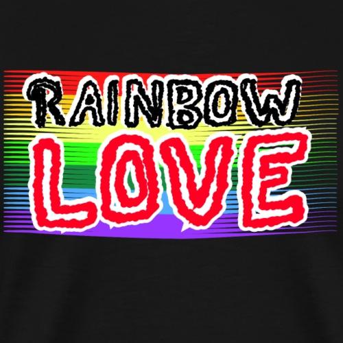 Rainbow Love Pride LGTB - Männer Premium T-Shirt