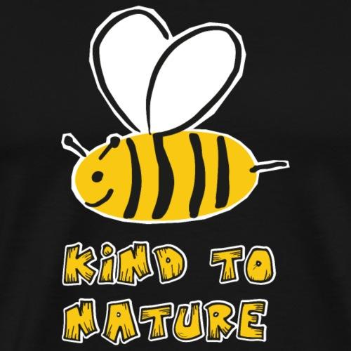 Bee kind to nature Bienen retten - Männer Premium T-Shirt