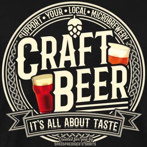 Craft Beer T Shirt Design für Biertrinker - Männer Premium T-Shirt