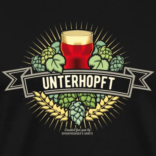 Unterhopft Bier Design Hopfen Gerste Bierglas - Männer Premium T-Shirt