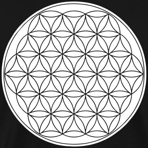 Blume des Lebens Yoga Goa Om Shirt Geschenk - Männer Premium T-Shirt