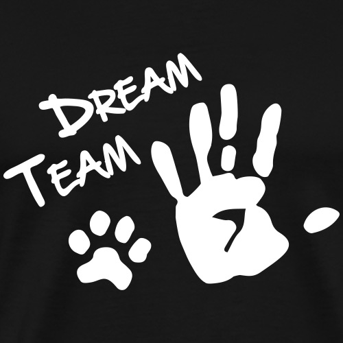 Dream Team Hand Hundpfote - Männer Premium T-Shirt