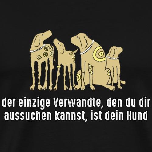 Verwandte aussuchen Haustier Hund bester Freund - Men's Premium T-Shirt