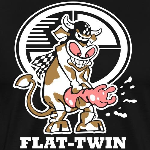 Flat Twin Cow   Boxer - Männer Premium T-Shirt