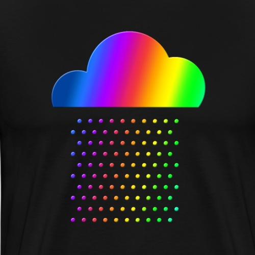 Buntes Wetter - Wir lieben Regen! Regenbogen Wolke - Männer Premium T-Shirt