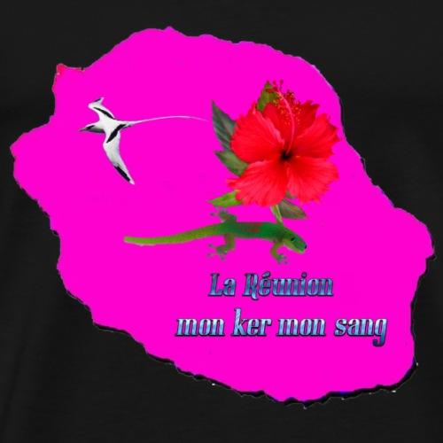 carte la réunion mon ker - T-shirt Premium Homme