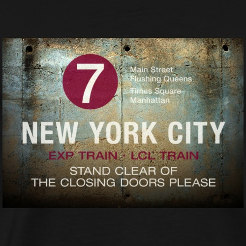 NYC subway stand clear of the closing doors please - Men's Premium T-Shirt