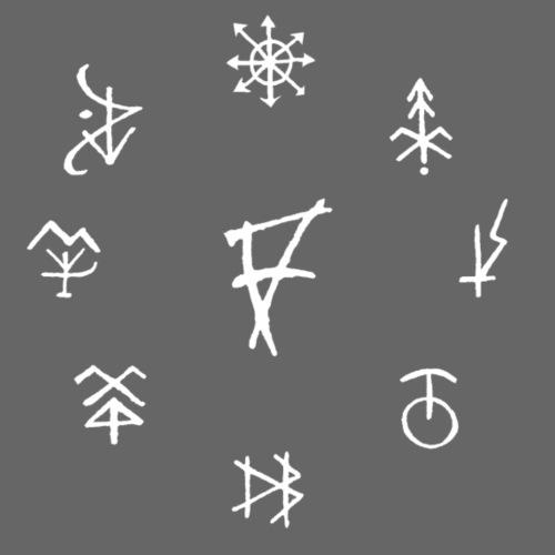 Círculo de runas blanco - Camiseta premium hombre