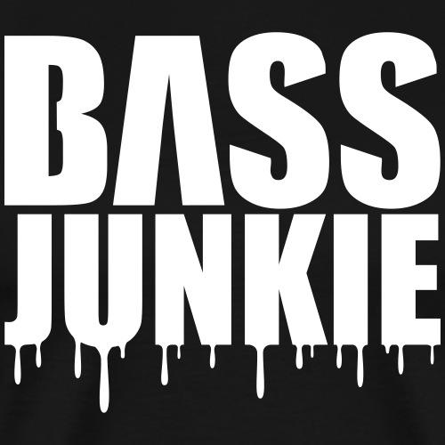 Bassjunkie Bass Music Musik Electro Festivals DJ - Männer Premium T-Shirt