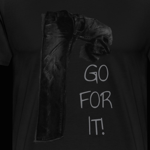 JEANS GO FOR IT schwarz - Männer Premium T-Shirt