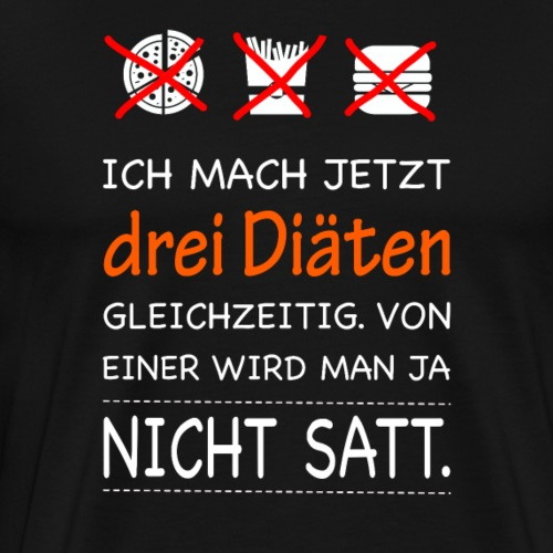 Drei Diäten, abnehmen - Männer Premium T-Shirt