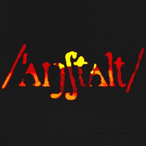 logo gerastert (flamme) - Männer Premium T-Shirt