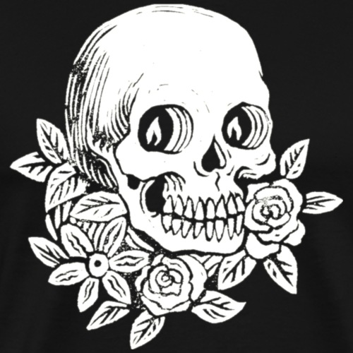 Skull flowers - Men's Premium T-Shirt