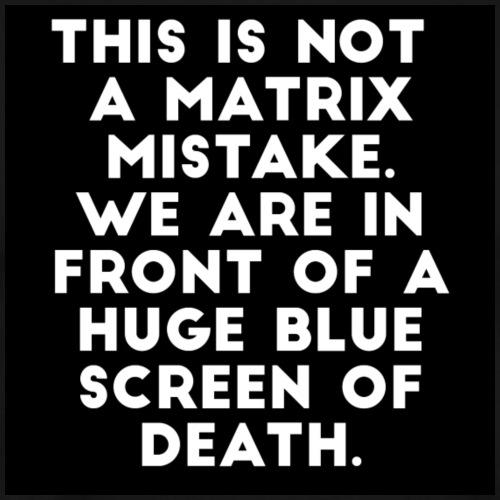 Blue screen of Death - Mannen Premium T-shirt