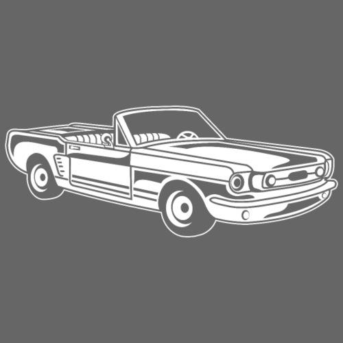 Cabrio / Muscle Car 02_weiß - Männer Premium T-Shirt