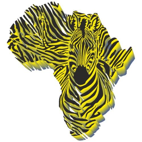 Symbol Afrika in der Zebratarnung - Männer Premium T-Shirt
