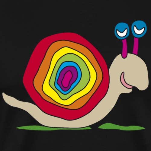bunte Schnecke Stielauge Regenbogen Graffiti Kunst - Men's Premium T-Shirt
