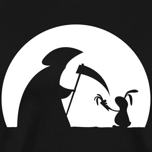Hase Kaninchen Möhre Tod Sensenmann Karotte bunny