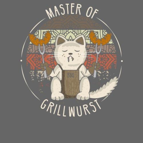 Katze Retro Grillen Lustig Master of Grillwurst - Männer Premium T-Shirt
