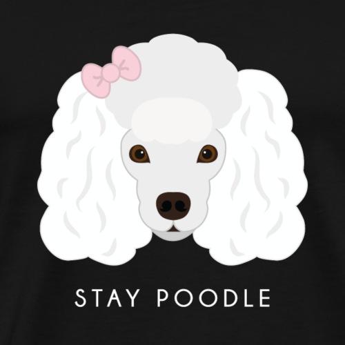 Poodle White - Maglietta Premium da uomo