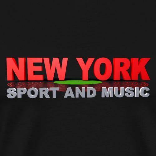 New York SPORT AND MUSIC - T-shirt Premium Homme