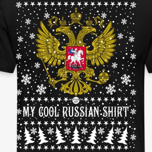 116 My Cool Russian Shirt Russland T-Shirt Snow - Männer Premium T-Shirt