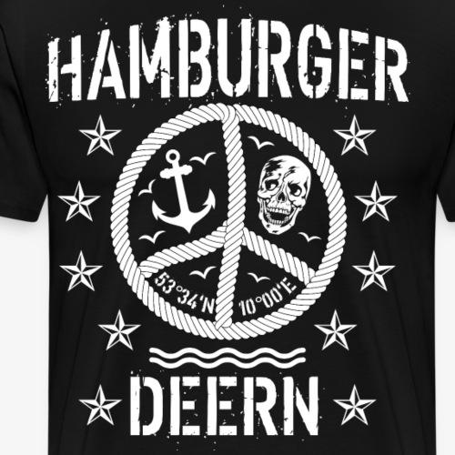 97 Hamburger Deern Peace Friedenszeichen Seil - Männer Premium T-Shirt