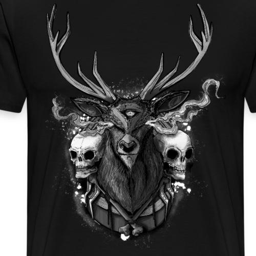 Deer - BONE SQL PRY - Men's Premium T-Shirt