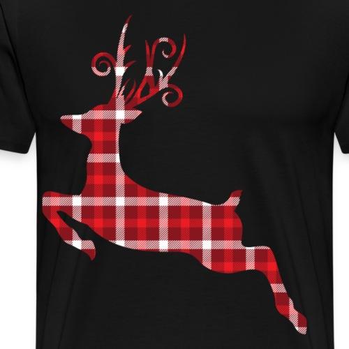 Vintage Tartan Reindeer Christmas Gifts.Baby,Adult - Men's Premium T-Shirt