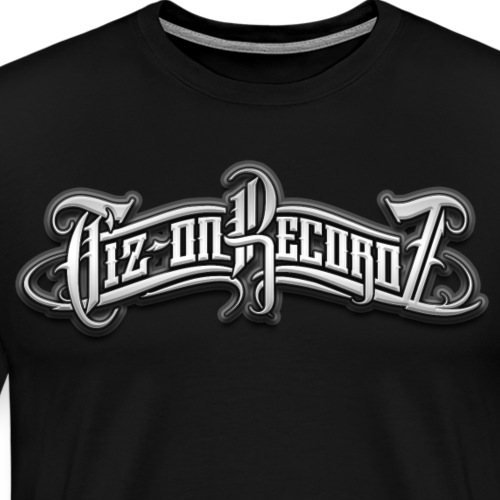 tiz-on recordz black & white - T-shirt Premium Homme