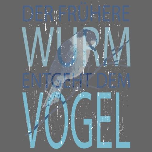 der frühere WURM entgeht dem VOGEL - Männer Premium T-Shirt