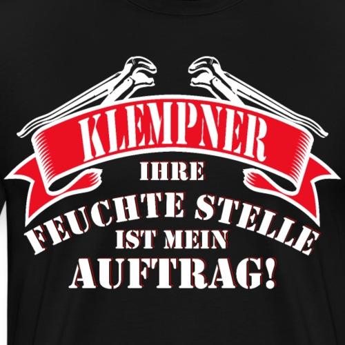 Klempner Installateur feuchte Stelle Auftrag - Männer Premium T-Shirt