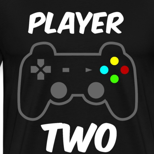 Player ONE - Player TWO Partnerlook - Männer Premium T-Shirt