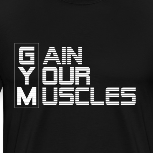 GYM-GAIN YOUR MUSCLES weiss